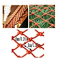 Child Safety Net Orange Wall Decoration Net Child Safety Swimming Pool Protector Stairs Anti-Falling Net Balcony Protection Net Kindergarten Decoration Net (Size : 1x8m)