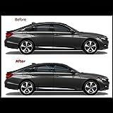 Chrome Delete Vinyl Kit Blackout Trim Overlays Compatible with 2018-20 Honda Accord Sedan Chrome Trim (Matte Black)