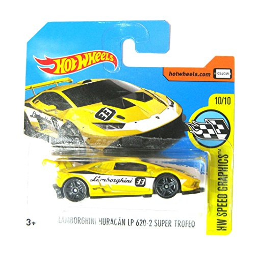 2017 Hot Wheels 1:64 Lamborghini Huracan LP620-2 Super Trofeo Yellow #107