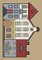 igsticker ポスター ウォールステッカー シール式ステッカー 飾り 841×1189㎜ A0 写真 フォト 壁 インテリア おしゃれ 剥がせる wall sticker poster 011194 建物 英語 風景