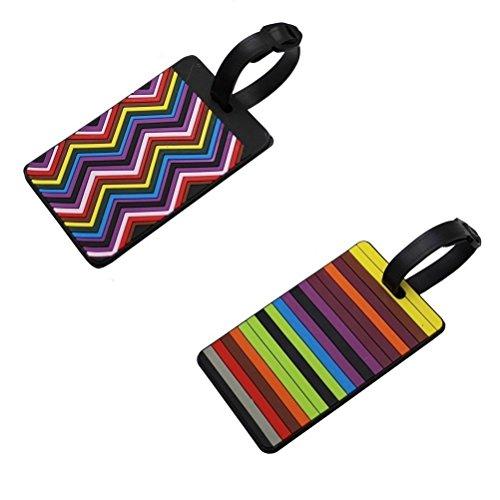 EQLEF® Set di 2 Etichette PVC Valigia etichette per il bagaglio