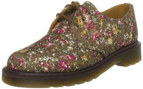 Dr. Martens 1461 Victorian Flowers, Damen Halbschuhe, Braun (Fired Taupe), 42 EU / 8 UK