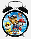 PAW Patrol Twin Bells Alarm Desk Clock 4' Home Office Decor E74 Nice for Gifts