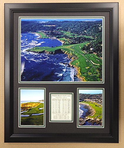Pebble Beach Golf Course- The U.S. Open Collectible | Framed Photo Collage Wall Art Decor - 12