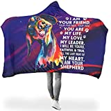 weipengda-Fashion Shoes I Am Your Dog Friend Life Love Thermal Hoodie Wearable Super Soft Throw Blanket Make People Sleep Well for Bed in Cold Weather Diverse Style White 60x80 inch