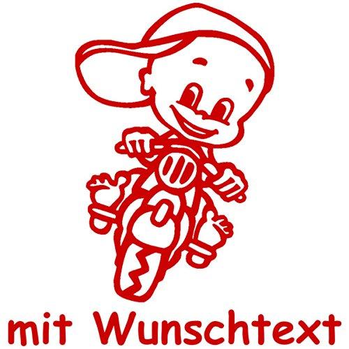 Babyaufkleber mit Name/Wunschtext - Motiv 154 (16 cm) - 20 Farben und 11 Schriftarten wählbar