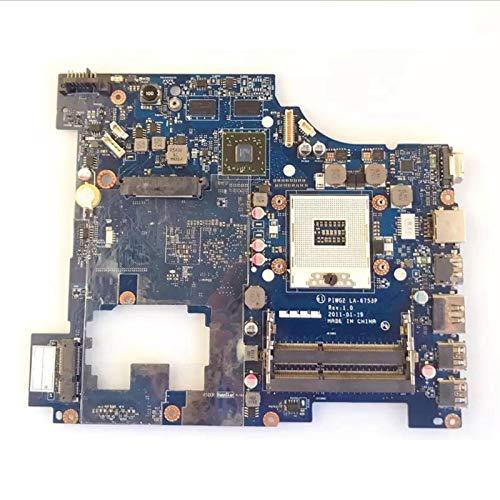 WSDSB Placa Madre Portátil Fit For Lenovo IDEAPAD G570 Placa Madre Portátil PIWG2 LA-6753P con HM65 Y GPU