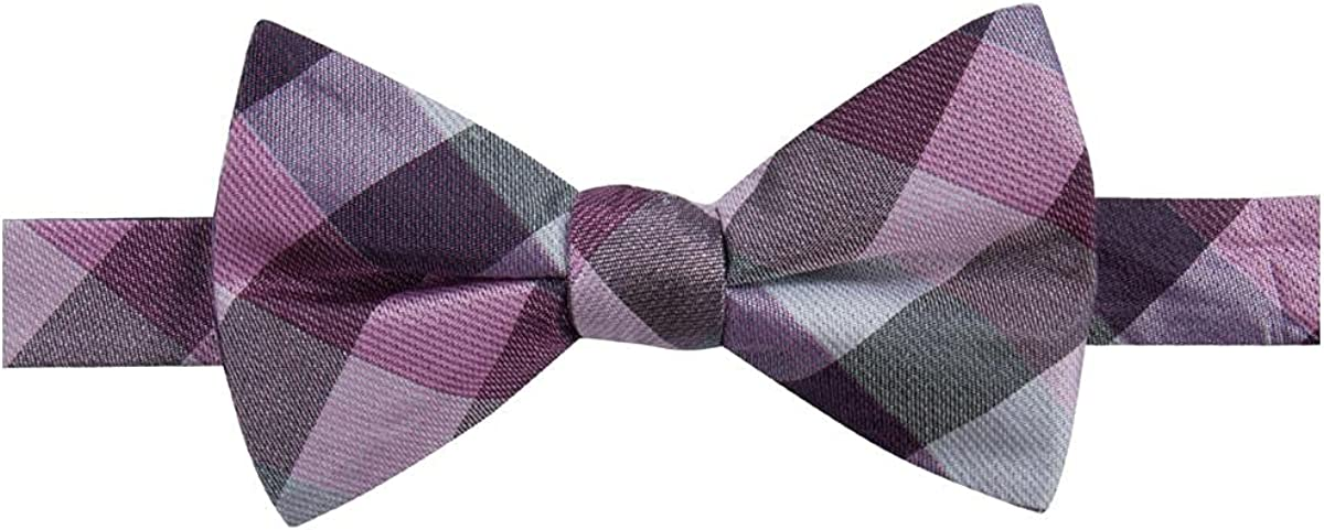 Ryan Seacrest Distinction Mens Weho Silk Check Print Bow Tie