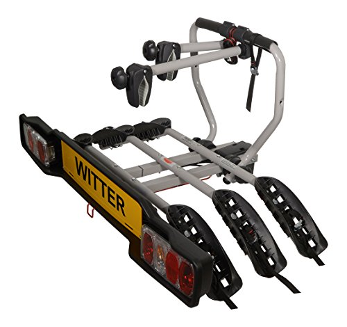 Witter Towbars ZX203 Bicyle Bolt-on towball Mounted Carrier for 3 Bikes – Maximum Load of 51kg – Lightboard for 7pin and 13pin sockets