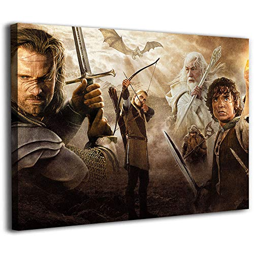 Mural de pared con pintura de diamante Lord of the Rings Trilogy Gandalf Aragón Legolas_wps'- Póster pintado a mano de 45,7 x 30,5 cm