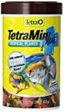 Tetra TetraMin Plus Tropical Flakes 2.2 Ounces, Nutritionally Balanced Fish Food, With Added Shrimp