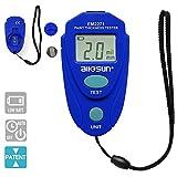 ALLOSUN-EM2271 Digital Painting Thickness Meter Mini LCD Car Coating Thickness Gauge, Blue