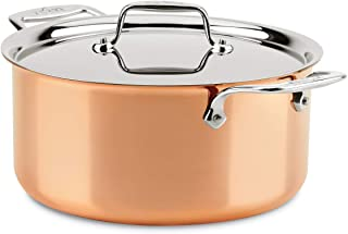 All-Clad C4508 C4 8 Qt. Stockpot with Lid, Cookware, Copper