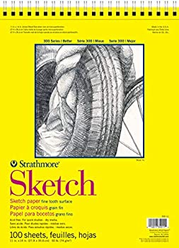 Strathmore 300 Series Sketch Pad 11x14 Wire Bound 100 Sheets