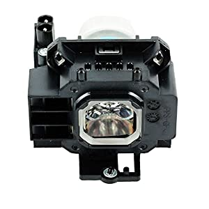 Molgoc NP07LP Projector Replacement Lamp Bulb with Housing Compatible for NEC NP300 NP400 NP500 NP510W NP600 NP610 NP410W NP500W NP500WS NP510WS NP600S NP610S NP610C