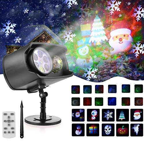 Christmas Projector Lights Outdoor Waterproof Light Projector with LED Ocean...