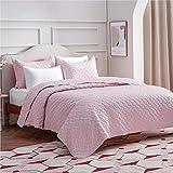 Bedsure King Quilt Bedding Set Pink - Lightweight King Size Quilt Set for Summer Bedspreads Coverlet with 2 Pillow Shams