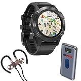 Garmin Fenix 6 PRO Multisport GPS Smartwatch + Wireless Sport Earbuds & More