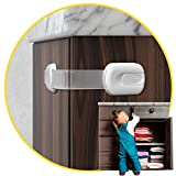Child Safety Cabinet Locks for Babies [14 Pack] Child Proof Latches Locks for Cabinets and Drawers Doors, Baby Proofing Cabinet Strap Locks for Cupboards, Fridge, Toilet and Closet with 3M Adhesive