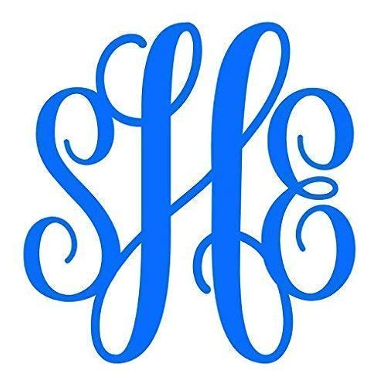 Custom Monogram Vinyl Decal Sticker - Personalized for Car Windows, Tumblers, Laptops - Choose Color, Size