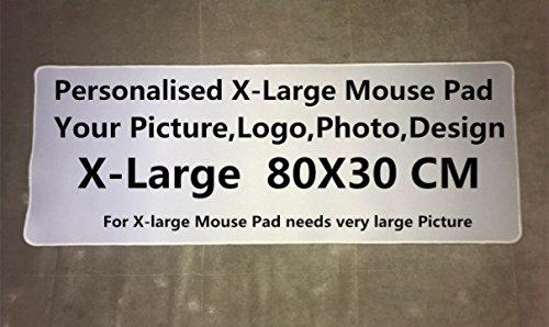 Op maat gemaakte gepersonaliseerde foto Extra grote tafel muismat muis mat 80X30cm B5