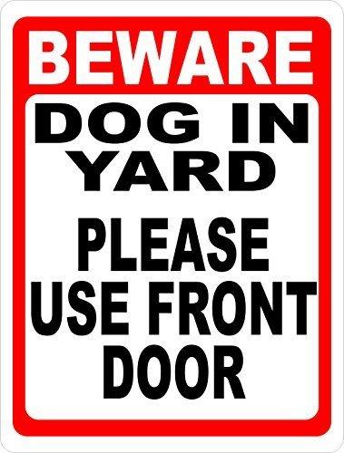 Zee en Phenix Pas op Hond In Yard Teken Nieuwigheid Aluminium Metalen Tekenen Vintage Outdoor Yard Tekenen Veiligheid Waarschuwing Teken Blik Plaque 8x12 Inches Gebruik Voordeur