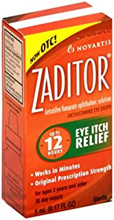 Zaditor Antihistamine Eye Drops, 5-mL