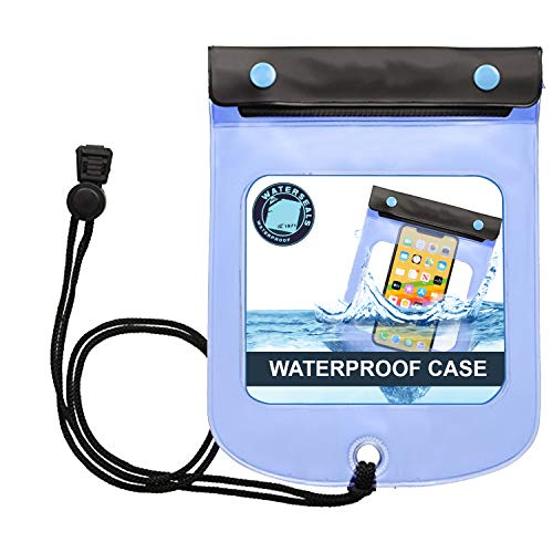 Lewis N. Clark WaterSeals Triple Seal Waterproof Pouch + Dry Bag for Cell Phone or Tablet, Great for Kayak, Canoe, Pool, Beach, Large (7.5X6.5)