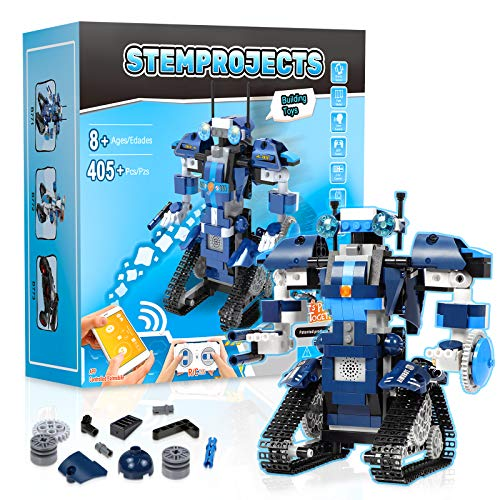 Stem Projects for Kids Ages 8-12 Remote Control Robot with APP Robots for Kids -405 Pieces Building Toys for 8,9,10,11,12 Year Old Boys and Girls
