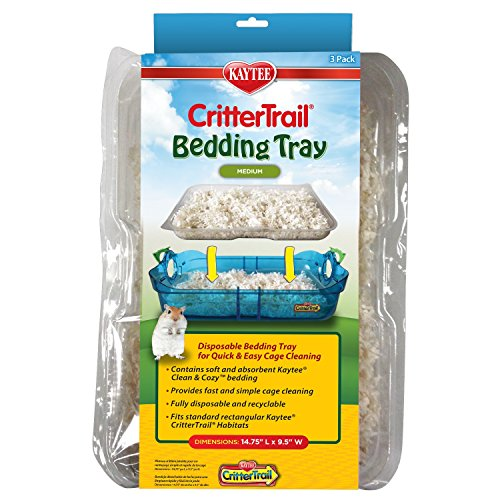 Kaytee CritterTrail Habitat Disposable Bedding Tray, 9-Count Total