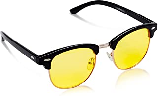 SafetyBlue Blue Light Blocking Computer Eyewear Gaming Glasses for Men & Women (Yellow)