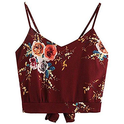 YCQUE T-Shirt Damen Damen Sommer Crop Top Stripe Strap V-Ausschnitt Stickerei Crop Tops Tops Bluse Camisole Shirt Verstellbarer Träger Kurze Weste