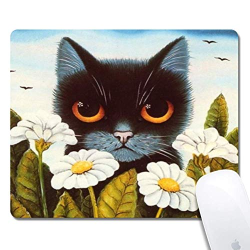 N\A Cartoon Black Cat Extended Ergonomic Gaming Mouse Pad, Rettangolo Mouse Pad Design Personalizzato Rettangolo in Gomma Mouse Pad-Cartoon Black Cat