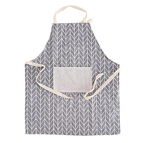 XIEYI Falda Ajustable de algodón y Lino para Hombre y Mujer con Galletas Resistentes al Aceite Fashion Restaurant-4
