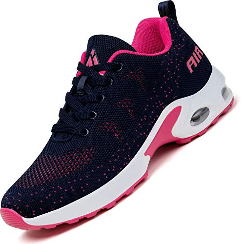 Mishansha Air Zapatillas de Deportes Mujer Ligeros Zapatos de Correr Femenino Antideslizante Calzado Gimnasio Sneakers Fitness Rosa, Gr.41 EU