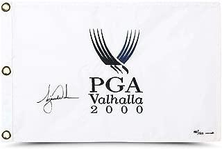 TIGER WOODS Autographed 2000 PGA Championship Flag UDA LE 500