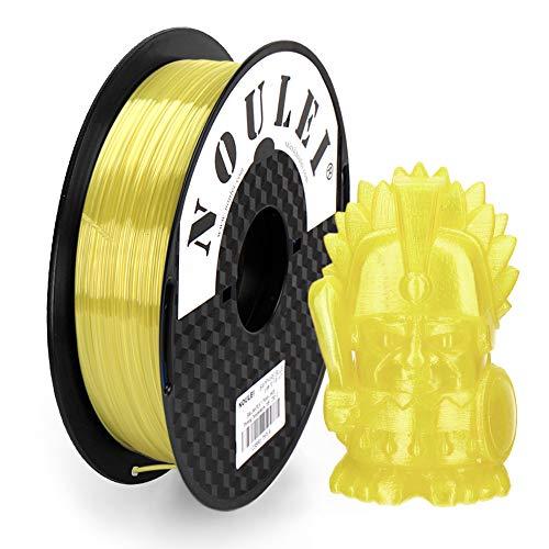 Noulei PETG 3D Drucker Filament 1.75mm for 3D Printing, Transparent Yellow, 0.5 kg