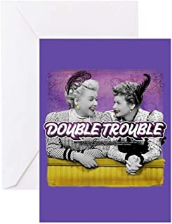 CafePress I Love Lucy: Double Trouble Greeting Card, Note Card, Birthday Card, Blank Inside Glossy