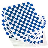 Extra Large, Grease Resistant Blue Sandwich Liner 300 Sheet Pack. Microwave Safe 15x15 in Wax Paper...