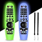 2 Packs Silicone Remote Cover for LG AN-MR19BA / LG AN-MR18BA / LG AN-MR600 / LG AN-MR650/ Magic Remote Control, Alquar Lightweight Protective Case Cover with Lanyard for LG Smart TV Remote