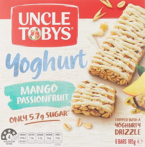 UNCLE TOBYS Muesli Bars Yogurt Topps Mango Passionfruit 6 Pack, 185g