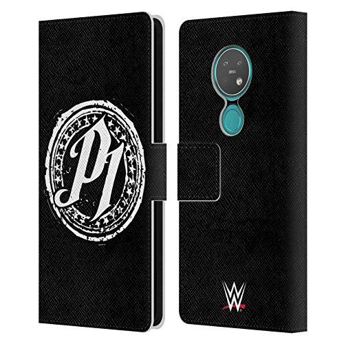 Head Hülle Designs Offizielle WWE P1 Aj Styles Leder Brieftaschen Handyhülle Hülle Huelle kompatibel mit Nokia 6.2/7.2