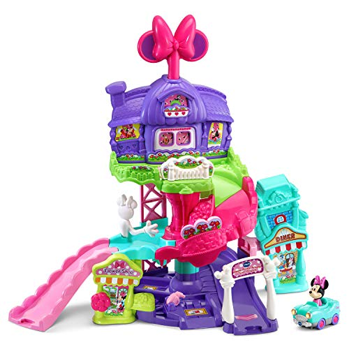 VTech Go! Go! Smart Wheels - Disney Minnie Mouse Around Town Playset,Pink