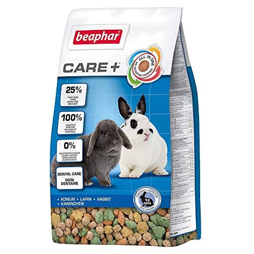 BEAPHAR – CARE+ – Alimentation Super Premium extrudée pour lapin – 25% de fibres – Appétent et sans sucres ajoutés – Haute digestibilité – Participe à l'usure naturelle de dents – 250 g