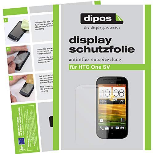 dipos I 2X Schutzfolie matt kompatibel mit HTC One SV Folie Displayschutzfolie