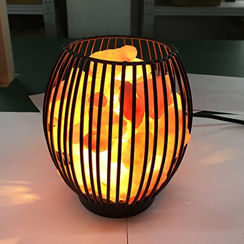 Himalaya Salz Lampe Schne Form Eisen Korb Lampe Natürlichen Luftreiniger Und Gentle Nightlights