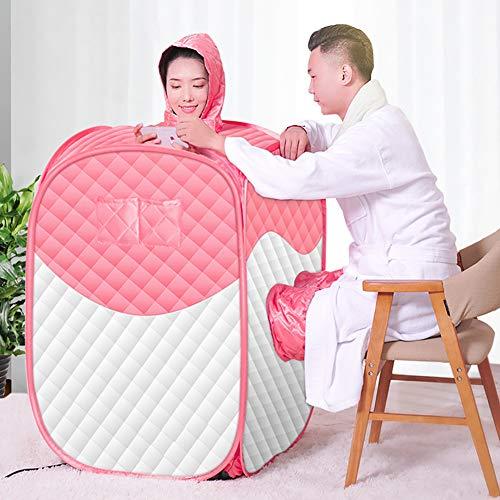 ZDYLM-Y Zuhause Dampfsauna, 1,7 l Faltbare Zwei-Personen-Saunamaschine, 1800 W tragbare Dampf-Saunabox für Erwachsene