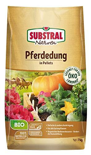 Substral Naturen Bio Pferdedung, natürlicher Bodenverbesserer und Dünger, 3 Monate Langzeitwirkung, 7 kg für bis zu 70 m²