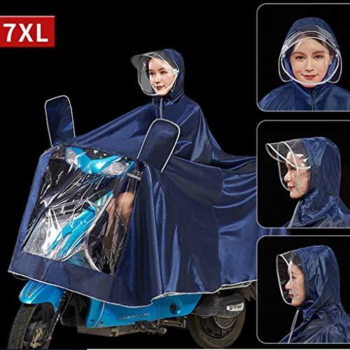 Heren Dames Waterdichte Motorfiets Poncho, Herbruikbare Oxford Regendicht Wind Regen Poncho Regen Capes voor Fiets Fiets Motorfiets Veilig Helder Paneel Scooter