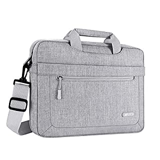 MOSISO Laptop Shoulder Bag Compatible with MacBook Pro 16 A2141/Retina 15 A1398, 15-15.6 inch Notebook, Polyester Messenger Carrying Briefcase Sleeve with Adjustable Depth at Bottom, Light Gray (B07GJL7PB3) | Amazon price tracker / tracking, Amazon price history charts, Amazon price watches, Amazon price drop alerts